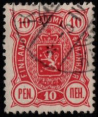 1895 10p Red